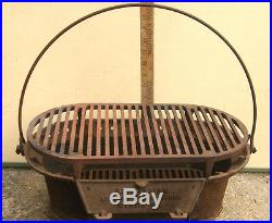 Atlanta Stove Works Cast Iron Sportsman Portable Grill Camping Tailgating Deck