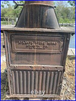 Atlanta Stove Works Cast Iron Wood Burning Franklin Stove/Fireplace Model 22