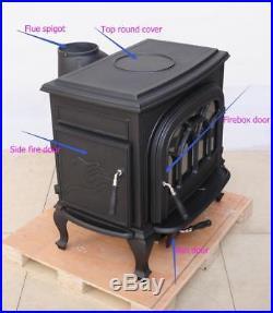 BIG SALE HiFlame HF737U Large Wood Burning Stove Paint Black New in box