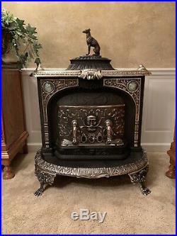 Beautiful & Very Rare American Fireside Cast Iron Fireplace/Parlor Stove