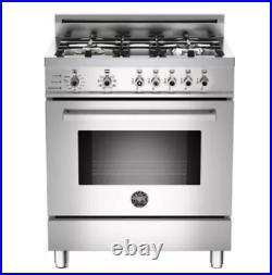 Bertazzoni 30 Professional Dual Fuel Range PRO304DFS-X