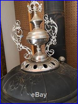 Big Antique Cast Iron Pot Belly Stove Sterling Brand 17
