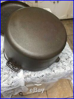 Birmingham Stove And Range #12 Dutch Oven With Lid Cleaned Seasoned