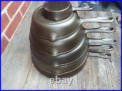 Birmingham Stove & Range / BSR Cast Iron Skillet Set #s 3, 5-8, Restored