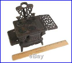 CRESCENT Miniature Childs Cast Iron Pot Belly Stove Vintage