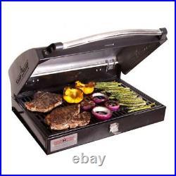 Camp Chef Deluxe Cast Iron 16 Inch 2 Burner Stove Barbecue Gas Grill Box BB90L