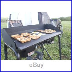 Camp Chef Deluxe Cooking Griddle Covers 2 Burners On 2 Burner Stove 32x15 Steel