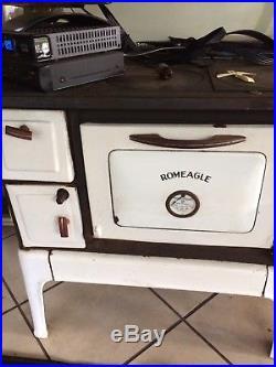 Cast Iron 1940 Wood Burning Stove Brand Romeagle