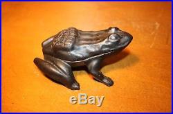 Cast Iron Advertising Toad or Frog GARLAND STOVES Match Holder Safe Dispenser