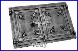 Cast Iron Fire Door Clay Bread Oven Pizza Stove Quality Black (A) 48x 33