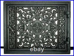 Cast Iron Fire Door Clay Bread Oven Pizza Stove Quality Black (C) 32 x 22,5