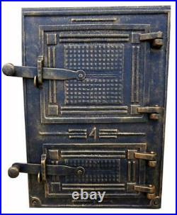 Cast Iron Fire Door Clay Bread Oven Pizza Stove Quality Gold (FC) 28,4 x 40,5