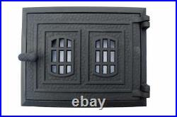 Cast Iron Fire Door Clay Bread Oven Pizza Stove Quality Gold (FP) 31,5 x 25