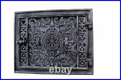 Cast Iron Fire Door Clay Bread Oven Pizza Stove Quality Silver (C) 32 x 22,5