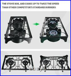 Cast Iron Free Stand LP Propane Double Burner Cooking Stove Range Outdoor Cooker