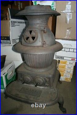 Cast Iron Pot Belly Railroad Parlor Stove