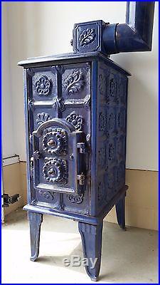 Cast Iron Stove-Cobalt blue