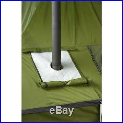 Cast Iron Wood Burning Stove Camp Tent Galvanized Steel Building Outside
