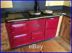 Classic Red 60 Cast Iron AGA Deluxe 4-Oven Gas Stove Range No Reserve