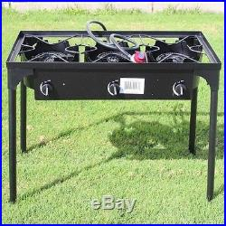 Concord Cookware Triple Burner Outdoor Stand Stove Cooker