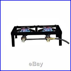 Double Propane Burner Angel Cast Iron Stove Trip Cooking Canning Camping Outdoor