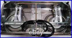 Double Wok Burner Cooker Stove LPG Gas Hose+Regulator 13.5 MJ Portable Benchtop
