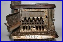 Early 1900's J&E Stevens Cast Iron Rival Childs Large Cook Stove, Original