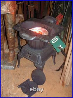 Early 1900's Tandy Wood or Electric Stove, economical 250 Watt infrared Heater