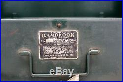 Early American KAMPKOOK No. 45 Gas Camp Stove vintage Cast Iron Grate GREEN