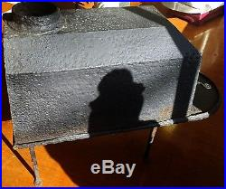 Early Antique 18th or 19th Century Small Cast Iron & Hand Wrought Wood Stove
