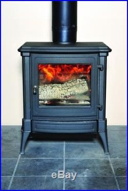Efel (Nestor Martin) S33BL Cast Iron Wood Stove Graphite Black with Remote