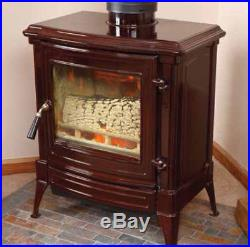 Efel (Nestor Martin) S33BR Cast Iron Wood Stove Brown Porcelain Finish