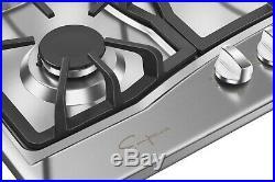 Empava 30 in Gas Cooktop 5 Itatly Sabaf Burners Sealed Stove Tops Cooker 30GC0A5