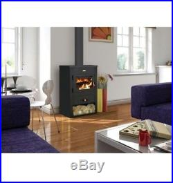 @F6 New 8+4 kW. Wood Burning Stove Cast Iron Top With Back Boiler Prity K1CPW8