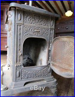 Fancy Victorian Cast Iron Parlor Stove 22 Walker