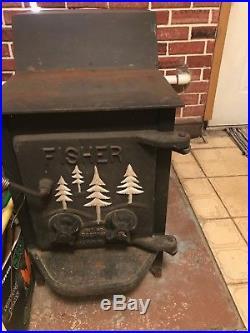 Fisher Cast Iron wood burning stove Mama Bear