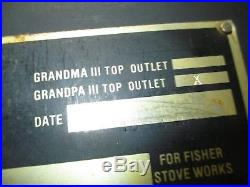 Fisher GRANDPA BEAR III WOOD STOVE