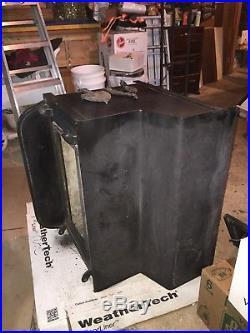 Fisher Grandpa Bear Wood Burning Cast Iron Stove (Fireplace Double Door Model)