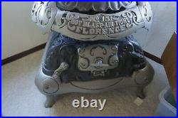 Florence 151 Antique Parlor Cast Iron Wood Stove Heater Pot Belly Revival 62