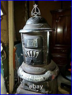 Florence 750 Antique Parlor Cast Iron Wood Stove Heater Pot Belly
