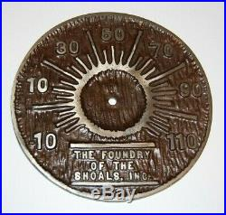 Foundry of the Shoals Cast Iron Thermometer Martin King Stove Florence Alabama