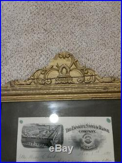 Framed Letter from President of Favorite Stove and Range Company to His Daughter