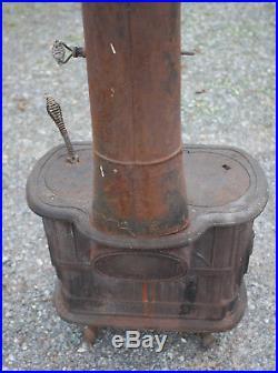 Franklin 288 Cast Iron Vintage Wood Burning Stove P&B MFG Nashville Tn Complete