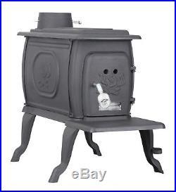 Freestanding Cast Iron Wood Burning Stove Logwood Heating Venting Burning Heat