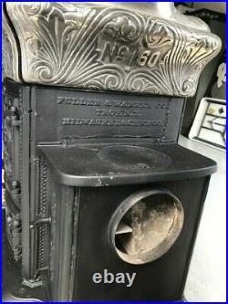Fuller & Warren Antique Parlor Stove 1890's Restored Cast Iron & Nickle