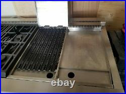 GE Monogram 48 Dual-Fuel Professional Range with 4 Burners, Grill, and Griddle