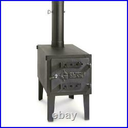 GUIDE GEAR Outdoor Wood Stove Adjustable Air Vent Camp Warmer Coffee Sauce Pans