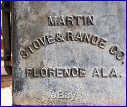 Genuine Antique Martin Stove & Range Co. Florence ALA Cast Iron Stove No. 7-14