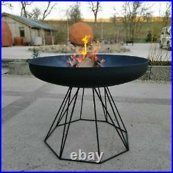 Giant Designer Fire Pit BBQ Wood Burner Garden Stove & Stand 100cm Diameter