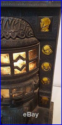 Great Antique Cast Iron Tile Stove, Penn(sylvania) Franklin